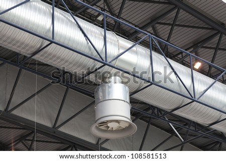 Air duct for extraction and air conditioning
