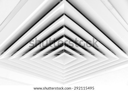 Air duct in square shape