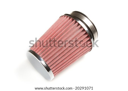 Air filter on white