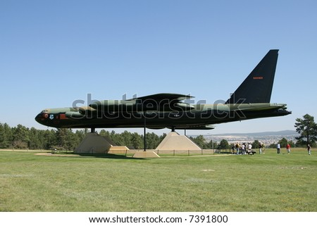 Air Force Academy Campus with B-52 Bomber on Display