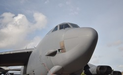 Air Force heavy strategic bomber nose view