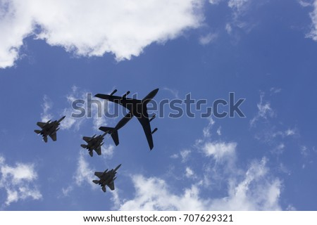 Air force in sky