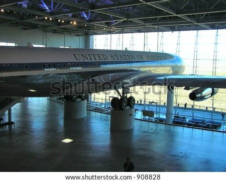 Air Force One in Hangar