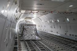 air freight inside cargo aircraft