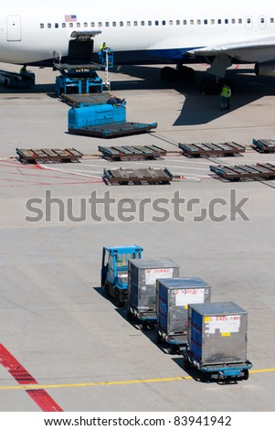 Air freight loading platform.