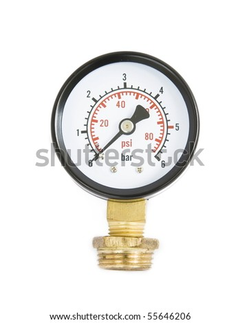 air-gauge on a white background