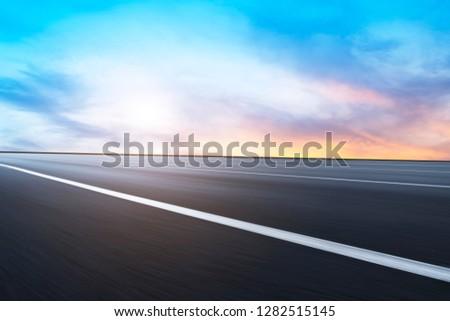 Air highway asphalt road and beautiful sky scenery #1282515145