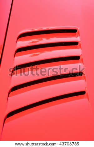 Air intakes on the car hood