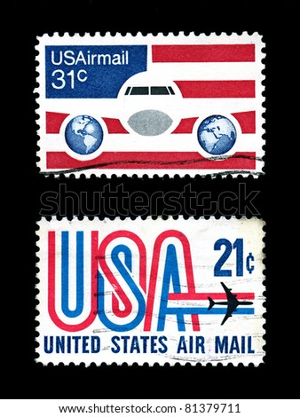 air mail stamps of usa