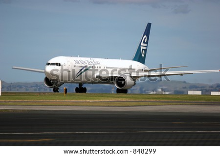 Air New Zealand Boeing 767 at Auckland International Airport