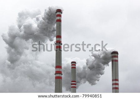 air pollution from coal power plant