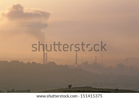 air pollution near Turda Romania