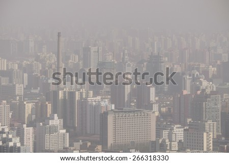 air pollution over Beijing, China, 2015