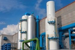 Air-separating factory for producing industrial gases