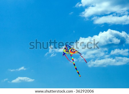 Air serpent in blue sky background