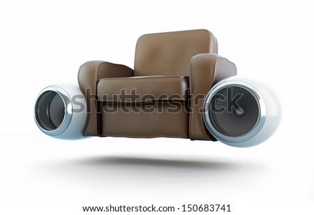 air taxi, aircraft engine leather armchair