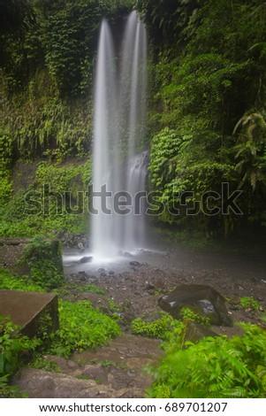 Air Terjun Tiu Kelep Waterfall, Senaru, Lombok, Indonesia, Southeast Asia #689701207