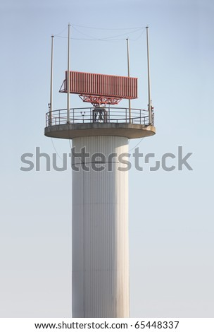 air traffic control against blue sky