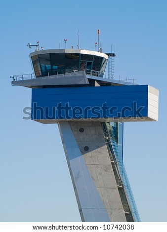 air traffic control tower at Nuremberg airport