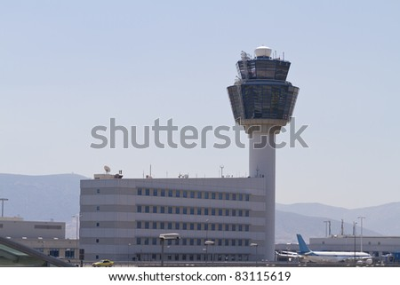 Air Traffic Control Tower (TWR) from Athens International Airport Eleftherios Venizelos