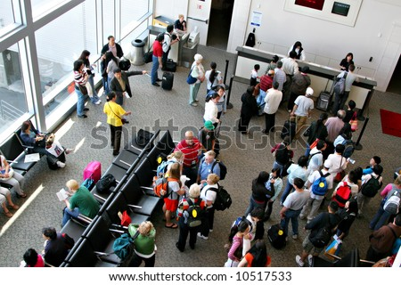 Air Travelers to China at Airport Terminal