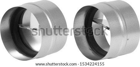 Air Volume Damper isolated on white background Stockfoto ©