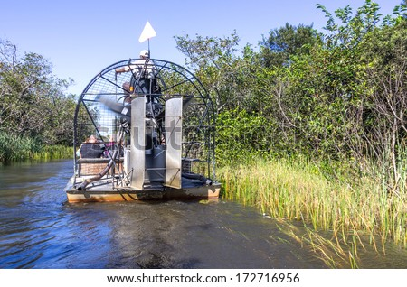 Stock Photo Airboat tour in the Everglades,Florida