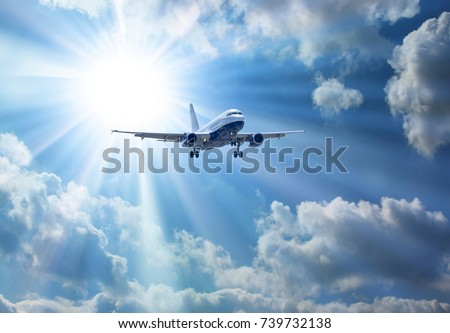 Airbus A-320 during landing. Stock photo ©