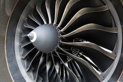 Airbus A320 NEO engine. Modern aircraft. CFM Leap-1A engine. Airplane engine. Aircraft engine blades.