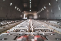 aircraft cargo floor latches and locks