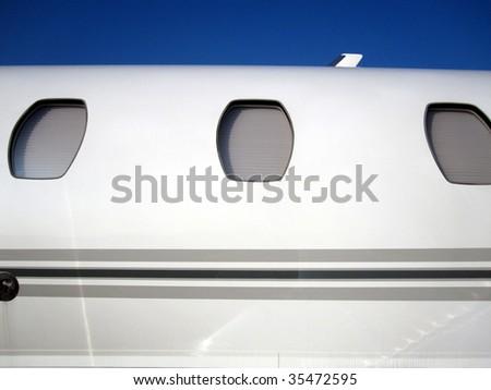 Aircraft close up