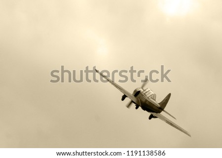 aircraft during the second world war in flight