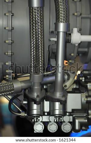 aircraft engine hydraulic detail