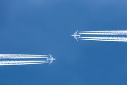 aircraft high in the sky