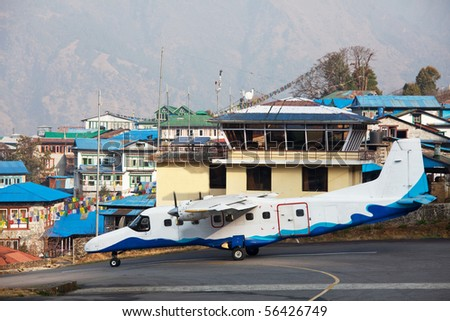 aircraft in Lukla airport