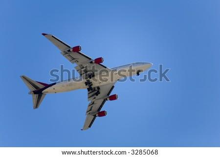 Aircraft landing at McCarron International Airport, Las Vegas, Nevada