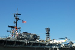 Aircraft on an aircraft carrier; Midway Museum; San Diego, California
