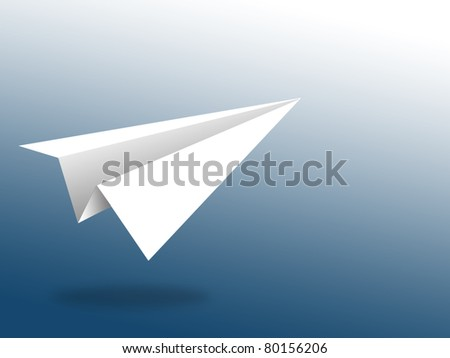 aircraft paper with blue background