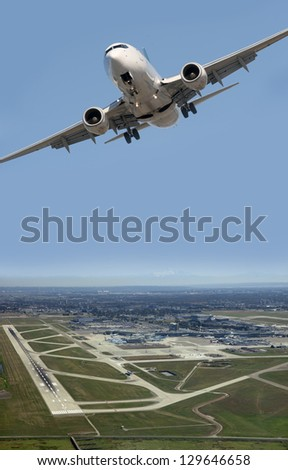 Aircraft taking off from Vancouver International Airport (YVR)