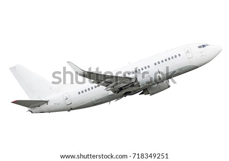 Aircraft white isolated on a white background #718349251