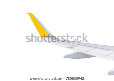 Aircraft wing isolated on white #780850942