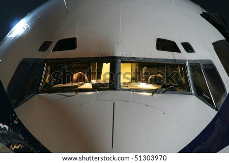 aircraft with night lighting