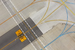 Airfield - marking on taxiway is heading to runway