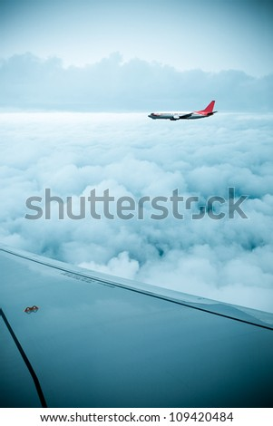 airfoil and stratosphere,aircraft in the sky