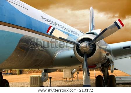 Airforce One, original plane use by John F. Kennedy