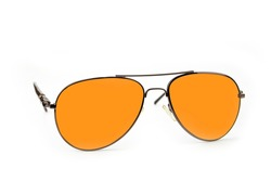 Airforce sun glasses on a white background