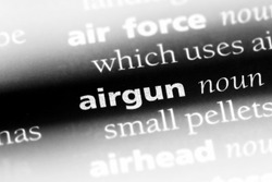 airgun word in a dictionary. airgun concept.