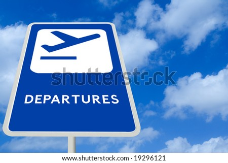 Airline Departure Sign