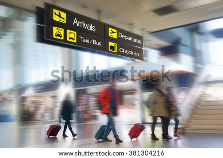 Airline passengers at the Airport.