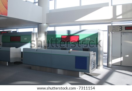 Airline ticketing and check-in counter